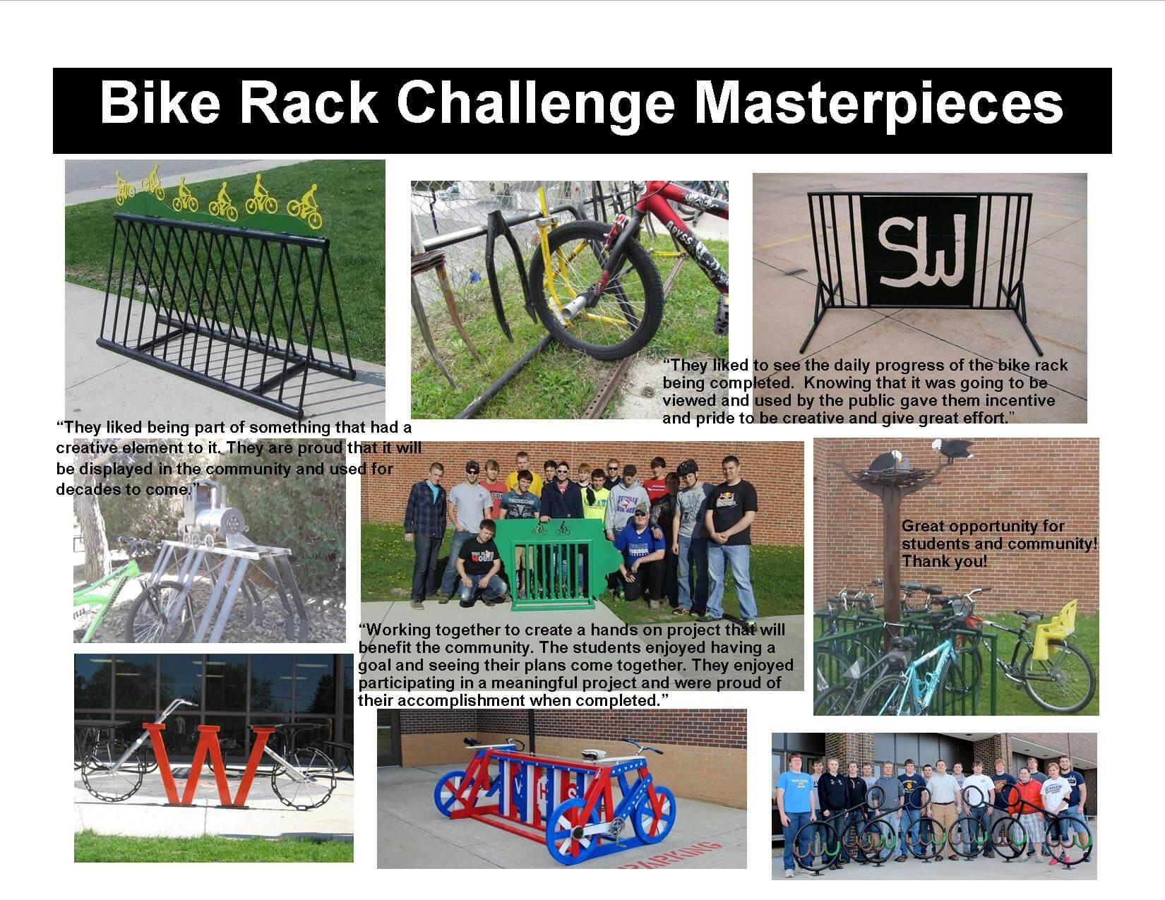 Bike Rack Challenge Masterpieces through the years...